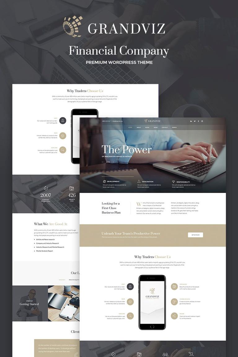 Grandviz - Financial Company Premium WordPress Theme #66990