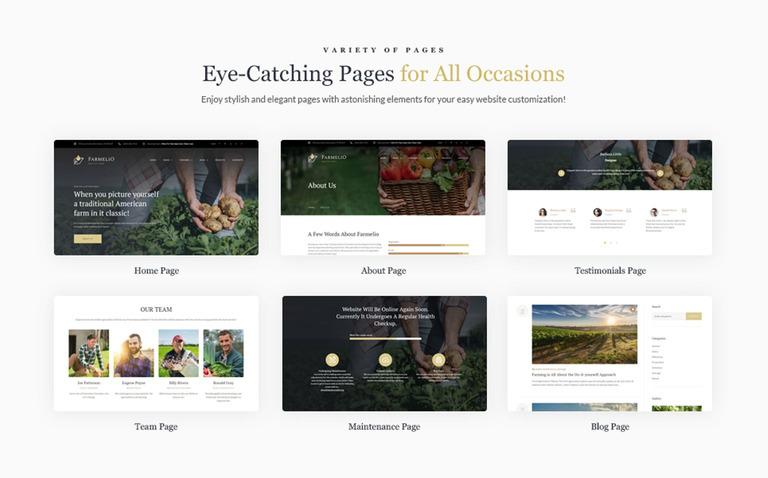 Farmelio - Farm Responsive WordPress Theme