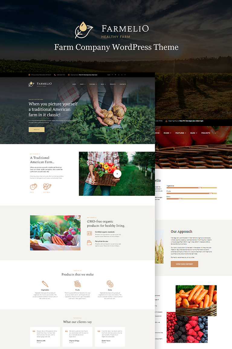 Farmelio Farm Responsive Wordpress Theme 67001