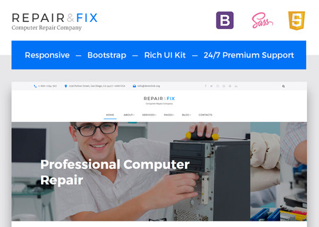 Computer Repair Company Multipage HTML5