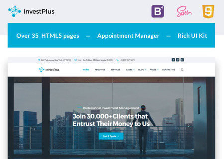Investment Company Multipage HTML5