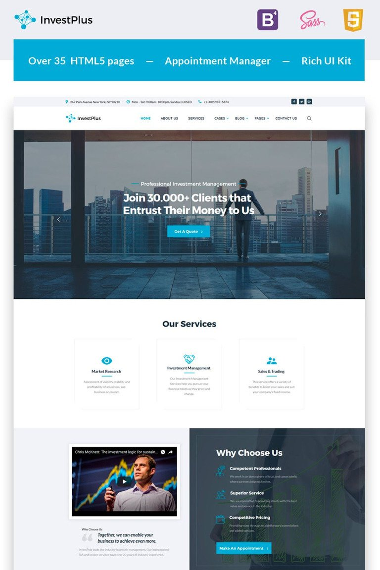 Investment Company Multipage Html5 Template