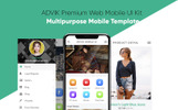 ADVIK Premium Web Mobile UI Kit App Template