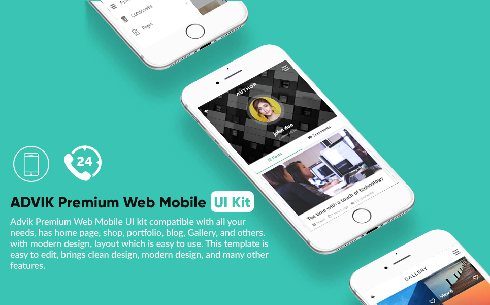 Advik premium web mobile ui kit app template 67114 zoom in live demo maxwellsz