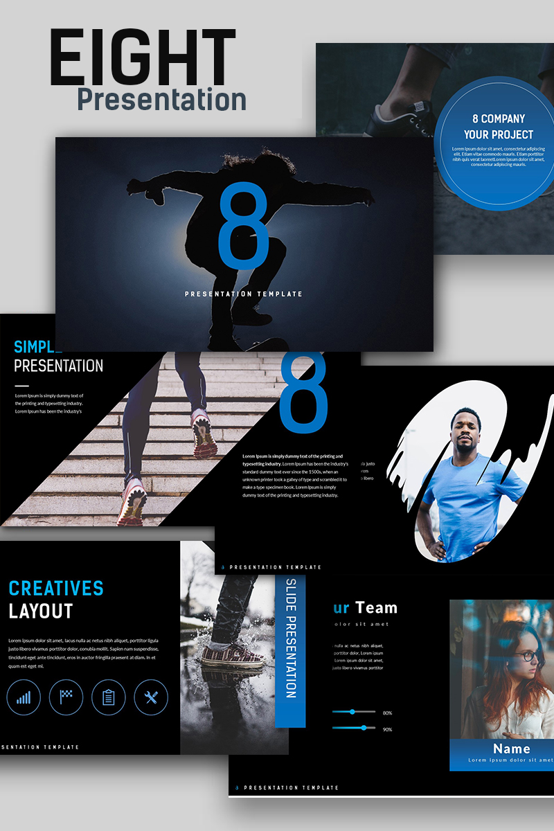 Eight creative presentation powerpoint template 67142 toneelgroepblik Image collections