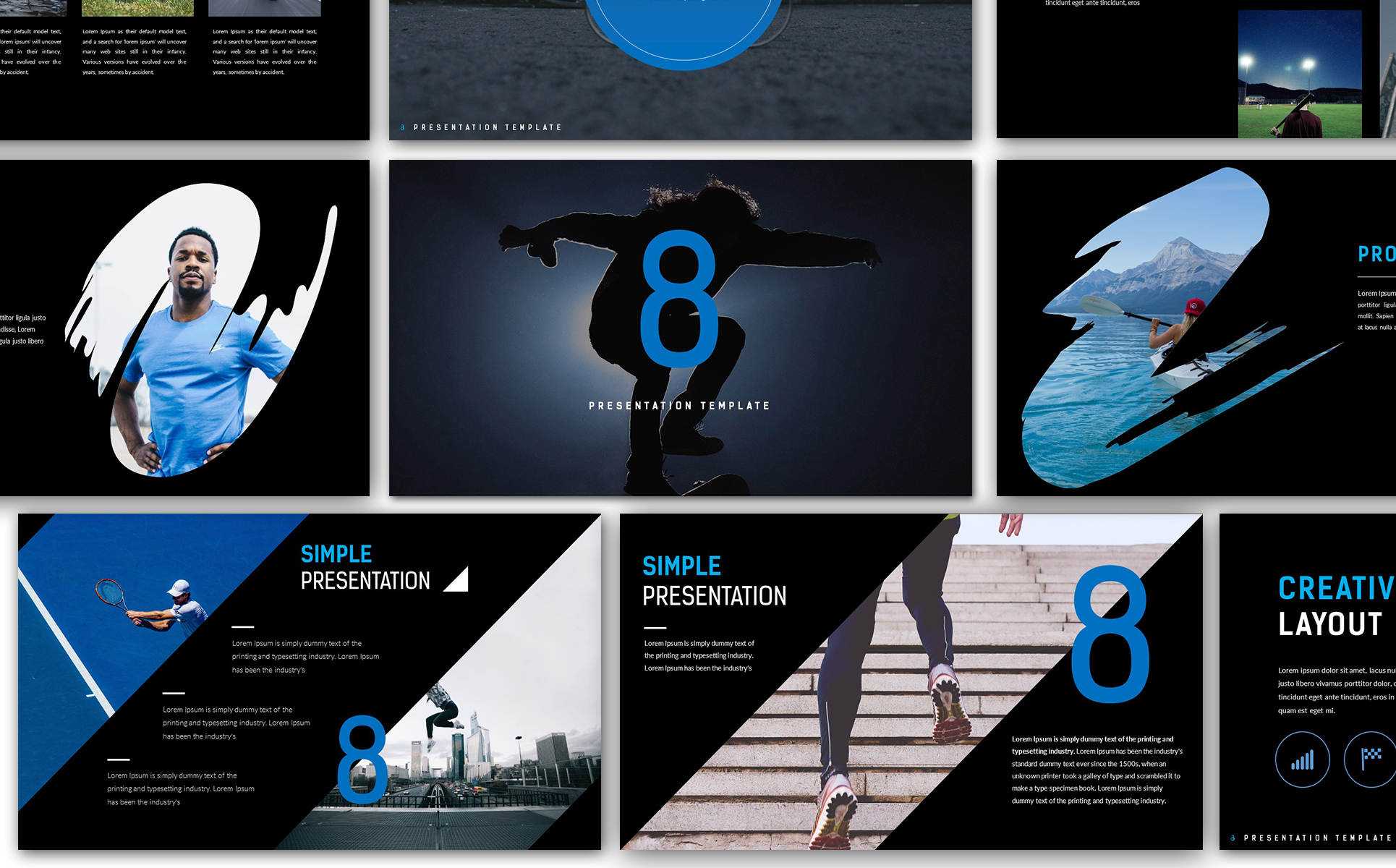 Eight Creative Presentation Powerpoint Template 67142