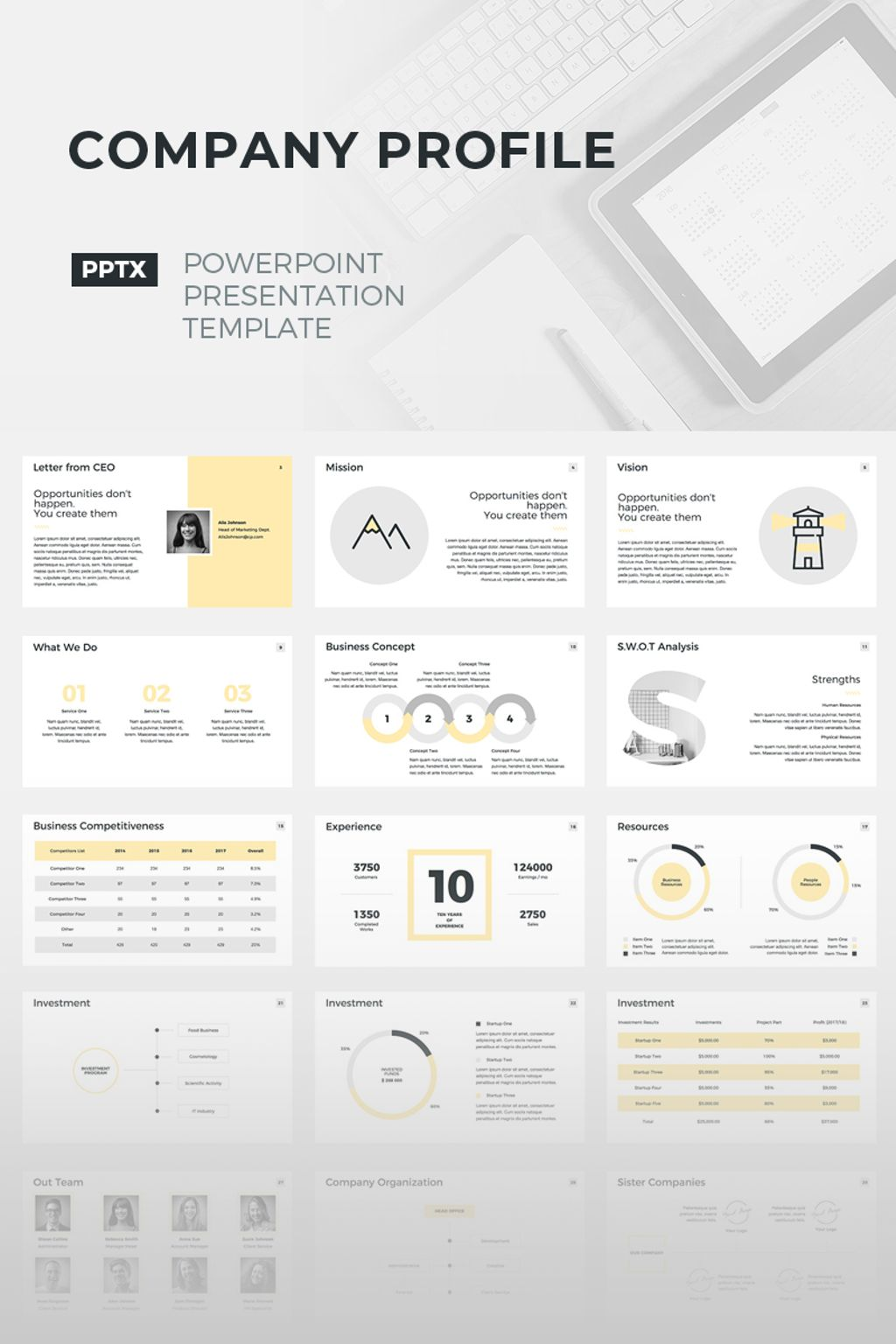 Company profile powerpoint template 67157 company profile powerpoint template big screenshot toneelgroepblik Image collections