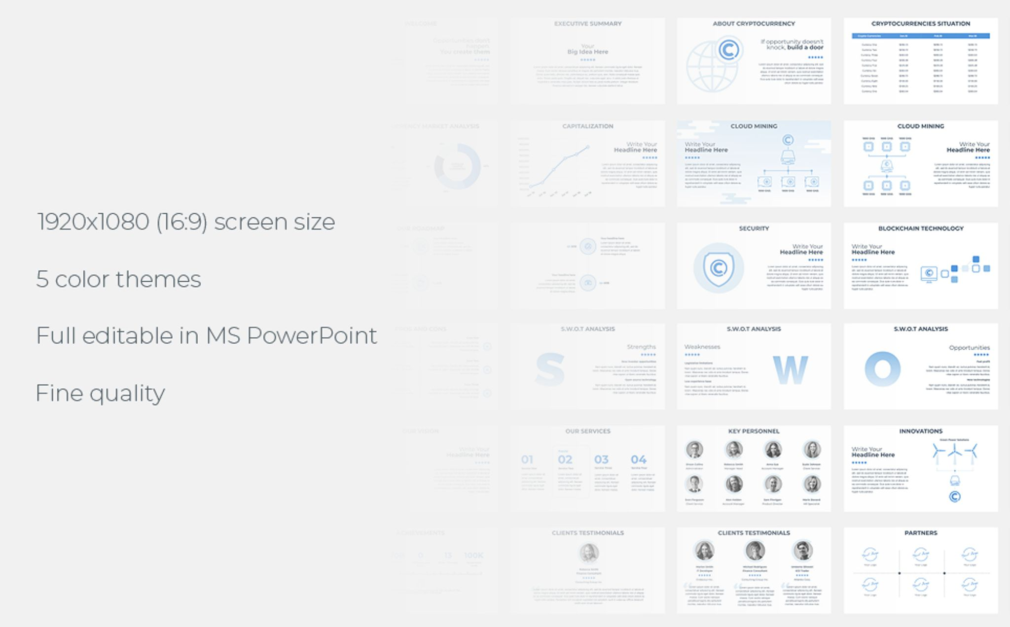 PowerPoint Vorlage #67155 für IT