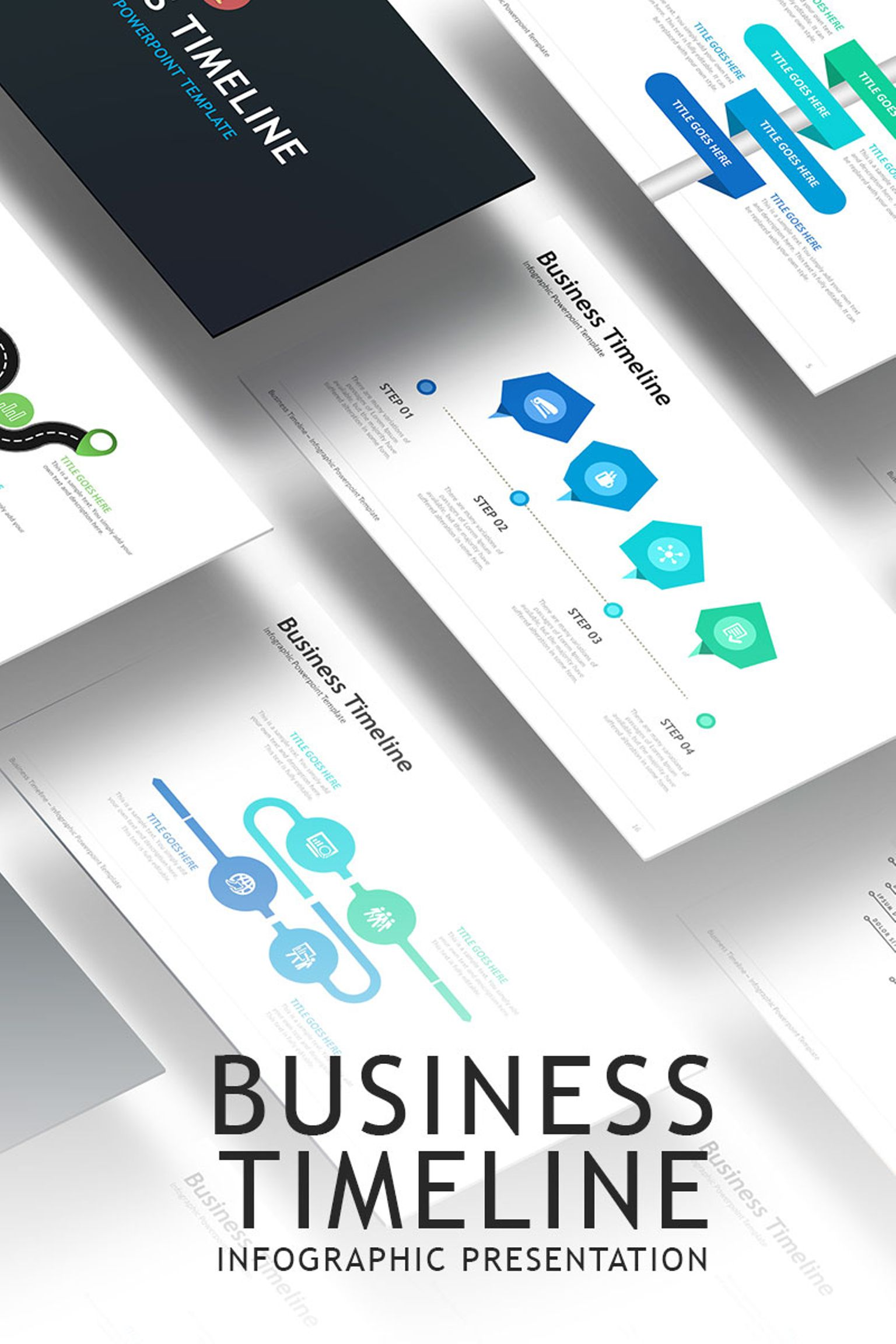 business timeline infographic powerpoint template 67109