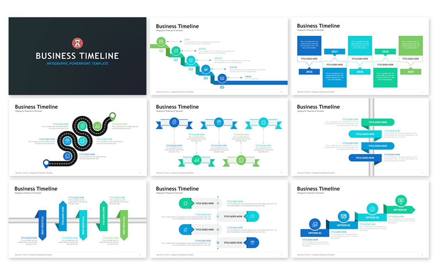 Business Timeline Presentation PowerPoint Template - Business timeline template