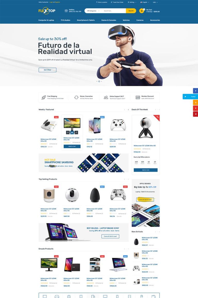 Plantilla Web #67310 para Sitio de Tienda de Ordenadores