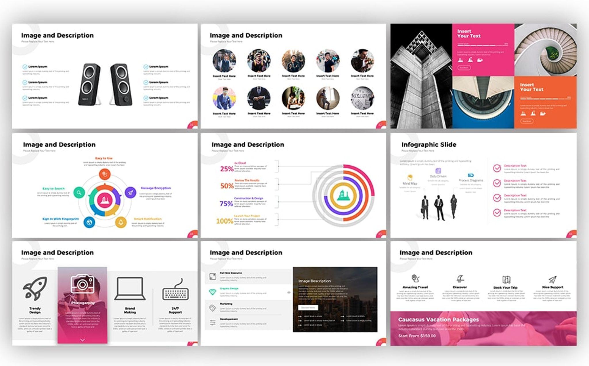 PowerPoint Vorlage #67110 für Business und Dienstleistungen