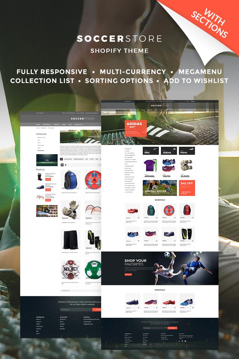 Shopify Theme #67039 für Fussball