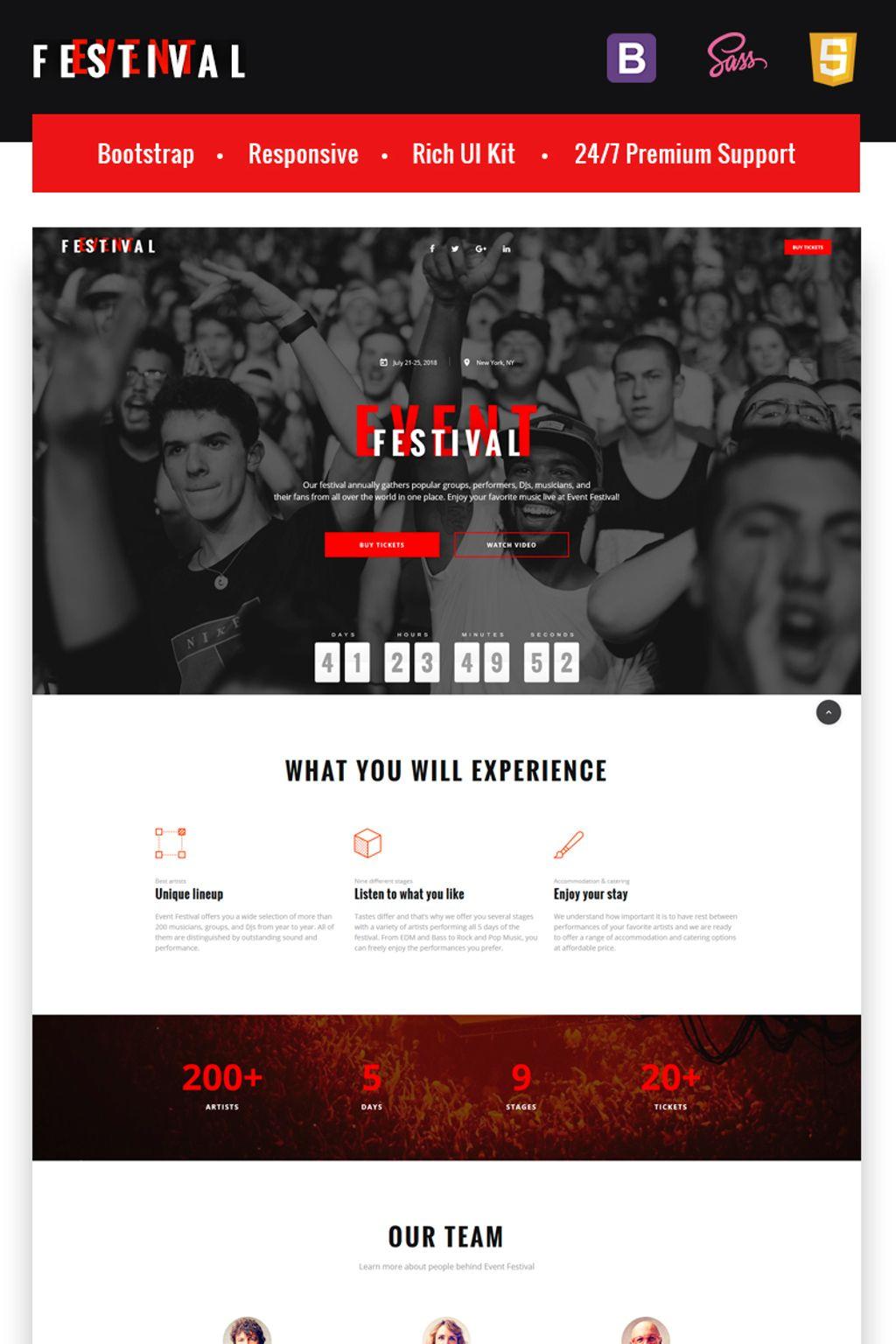 Festival Event Landing HTML5 Template