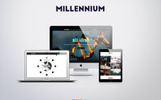 Responsivt Millennium - Creative Responsive Minimalistic HTML Hemsidemall