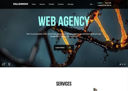 Millennium - Creative Responsive Minimalistic HTML