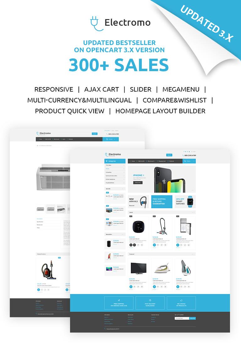Electromo Electronics Online Shop Opencart Template 67042