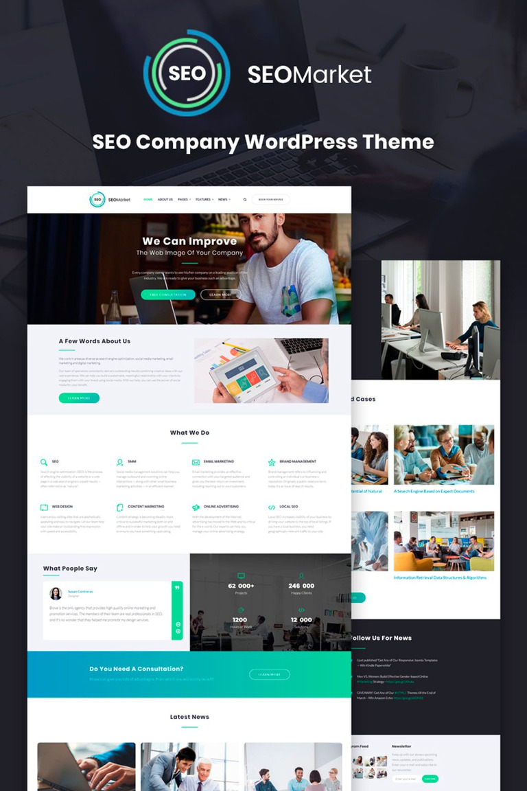 SEOMarket - SEO Website WordPress Theme #67045