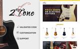 Tema de PrestaShop para Sitio de Tienda de Instrumentos Musicales