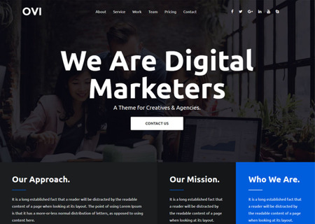 Ovi - Digital Agency Bootstrap