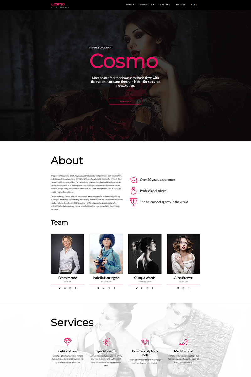 Адаптивный шаблон №67606 на тему дизайн и фотография