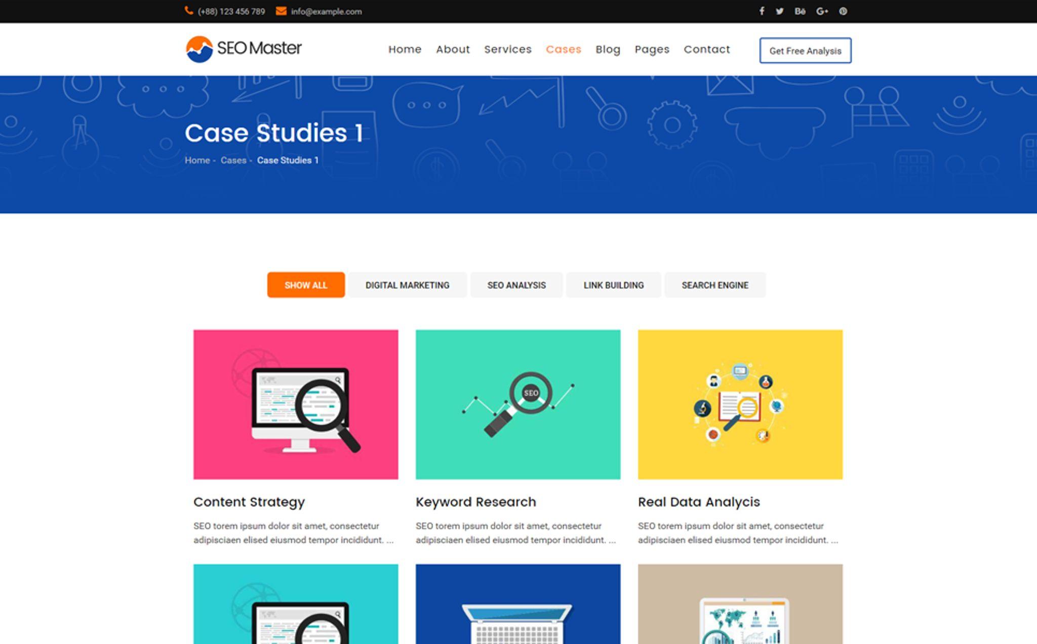 SEO Master – SEO & Digital Marketing Agency Website Template #67270