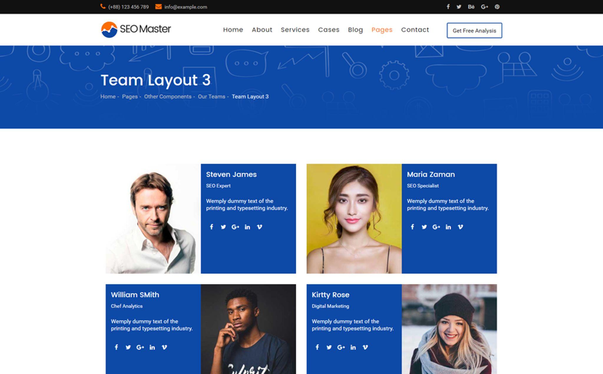 "SEO Master ¢€"" SEO & Digital Marketing Agency Website Template"