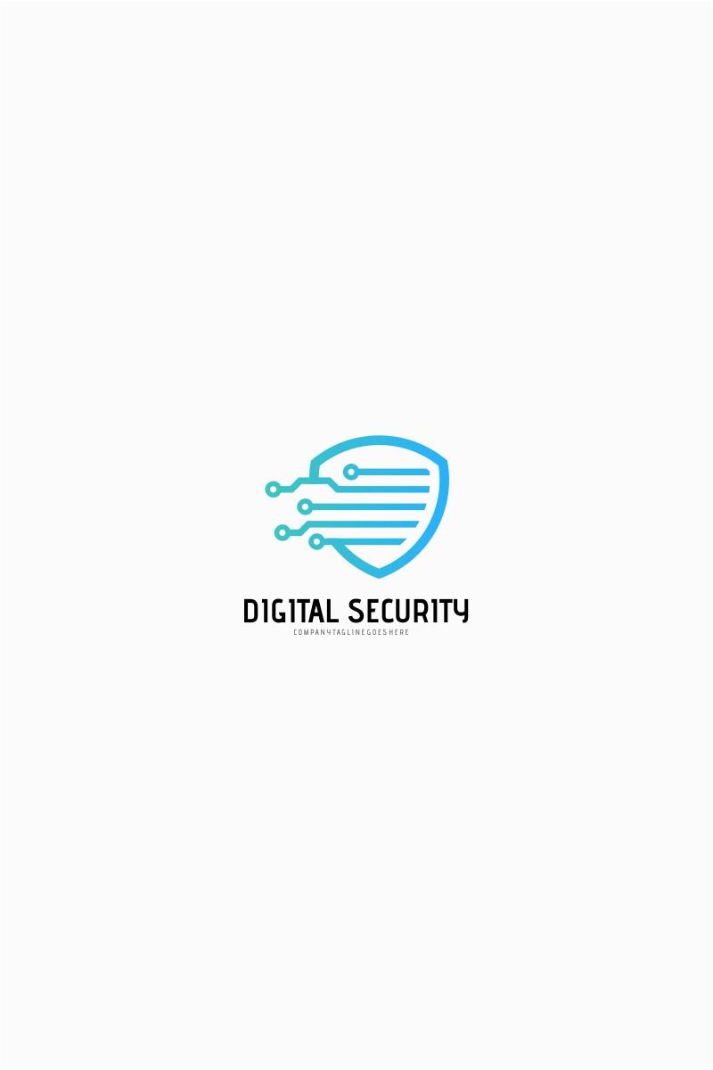 Digital Shield Security Logo Template #65534