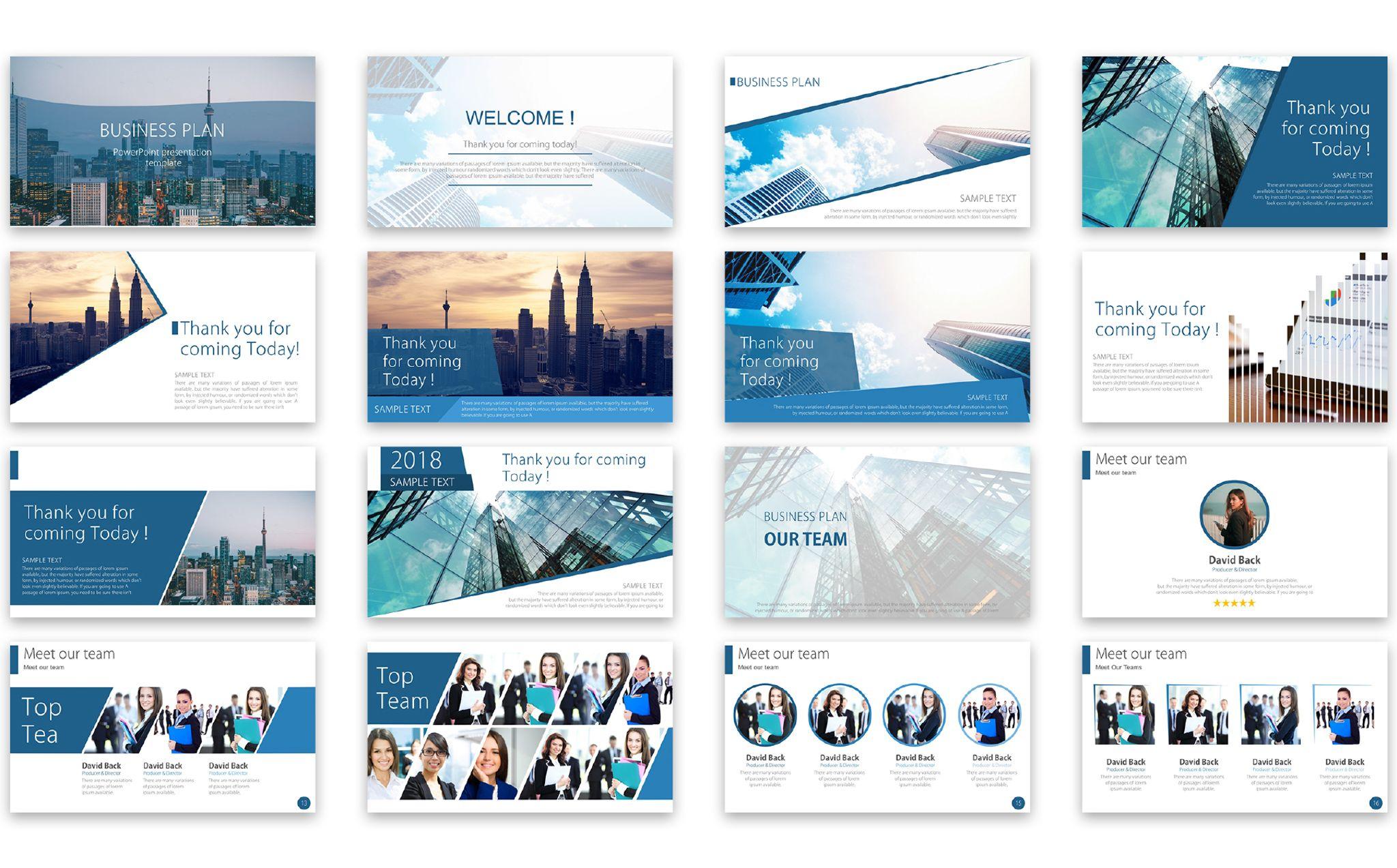 business plan ppt template