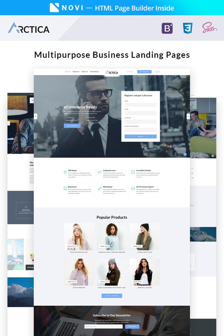 Landing Page Template #67051 für Beratung
