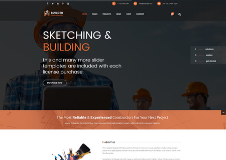 Builder - Construction and Building HTML
