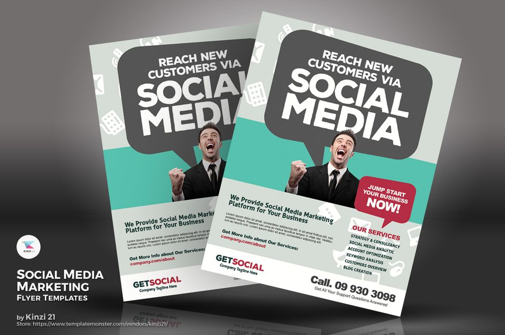 Social Media Marketing Flyers Psd Template