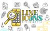 """Icon-Sammlungen Vorlage namens """"Line"""" Großer Screenshot"""