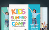 Kids Summer Camp Flyers PSD Template Big Screenshot