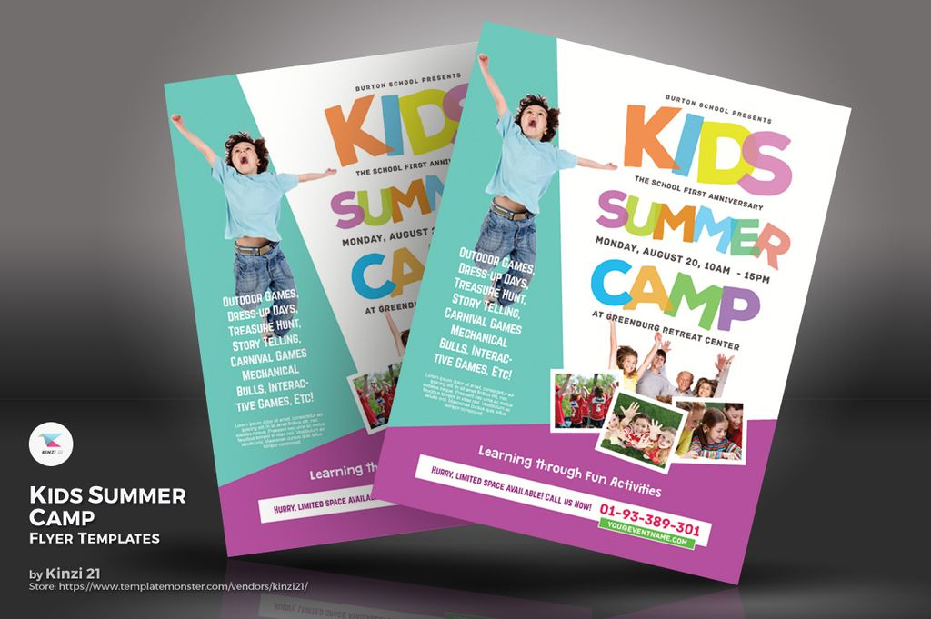 Kids Summer Camp Flyers Psd Template 67234