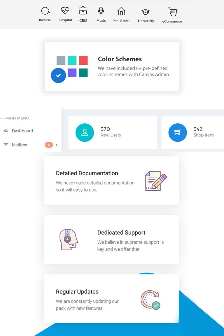 Canvas PowerFul Dashboard Web App Kit Admin Template - Free printable blank invoice supreme online store