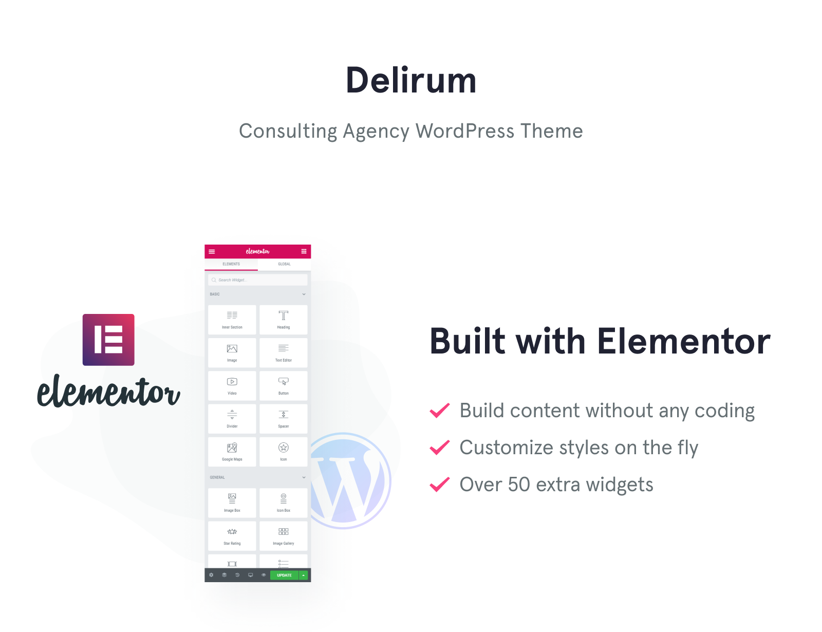 Delirum - Corporate Landing WordPress Theme