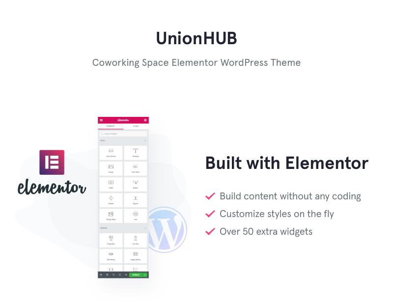 UnionHUB - Coworking Space Elementor WordPress Theme