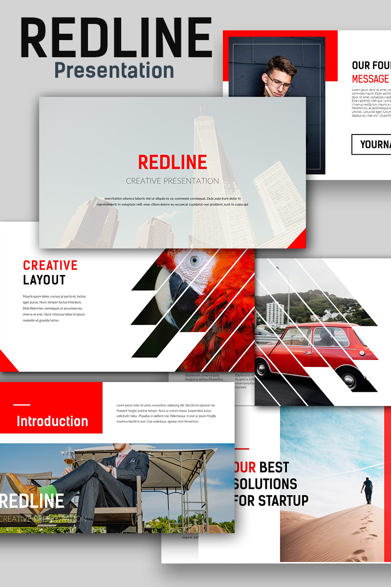 Redline creative powerpoint template 67143 toneelgroepblik Image collections
