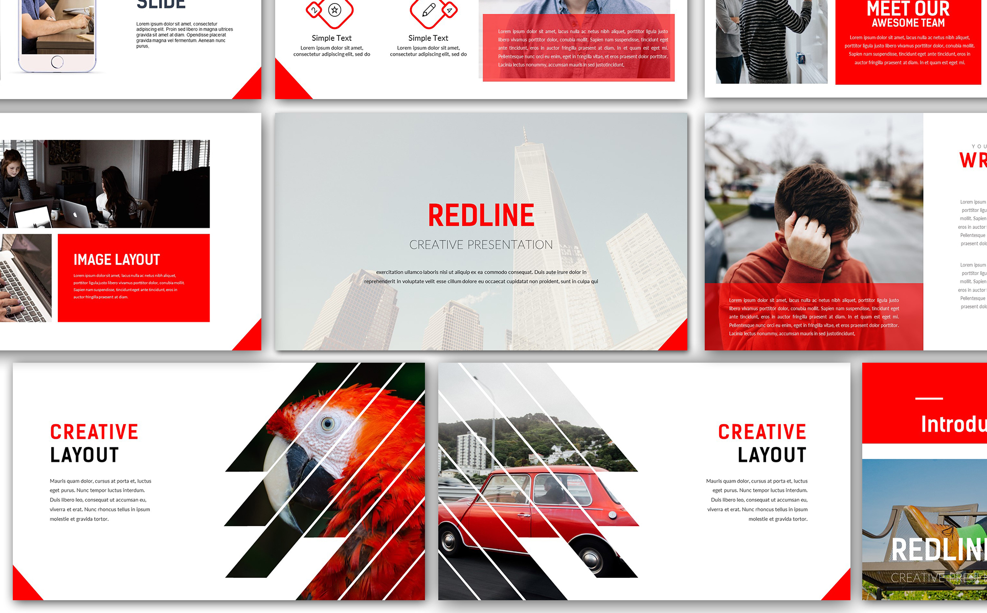Redline Creative Powerpoint Template 67143