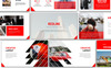 Redline Creative PowerPoint Template Big Screenshot