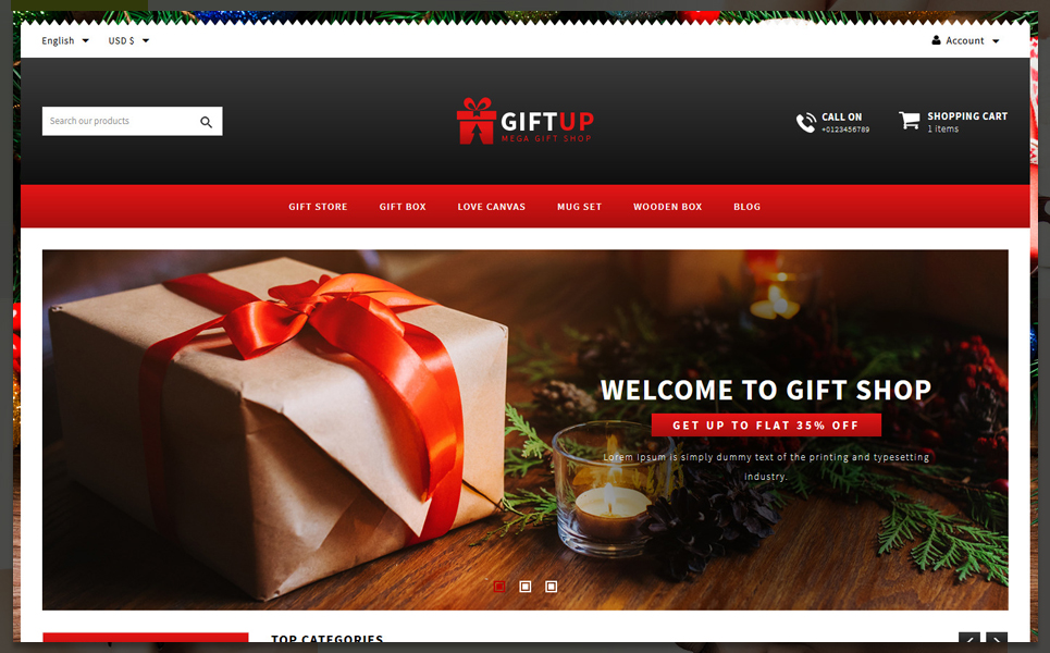 GiftUp -Gift shop PrestaShop Theme