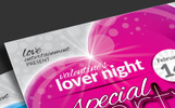 Valentine Day Package: Flyer, Event Ticket, Facebook Timeline Cover, VIP Pass and Invitation Card Corporate identity-mall