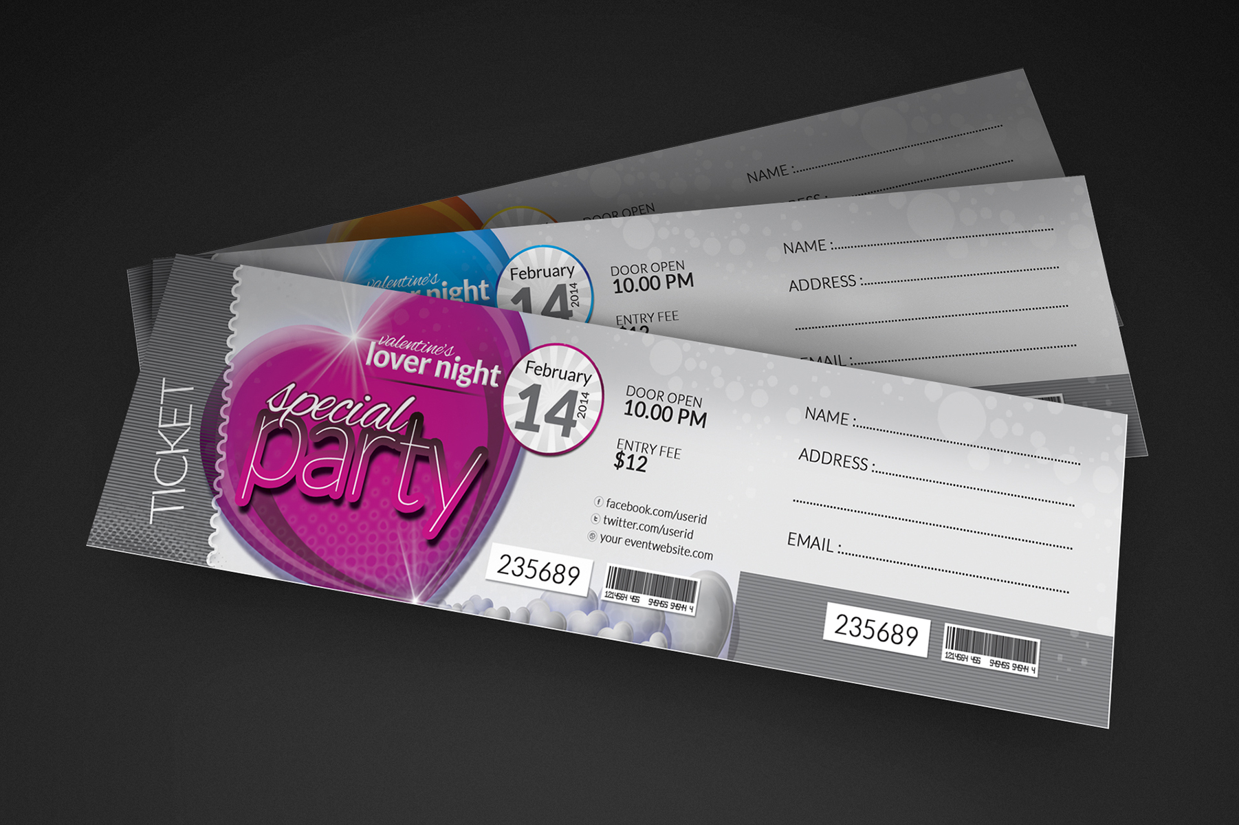 Valentine day package flyer event ticket facebook timeline cover zoom in stopboris Choice Image