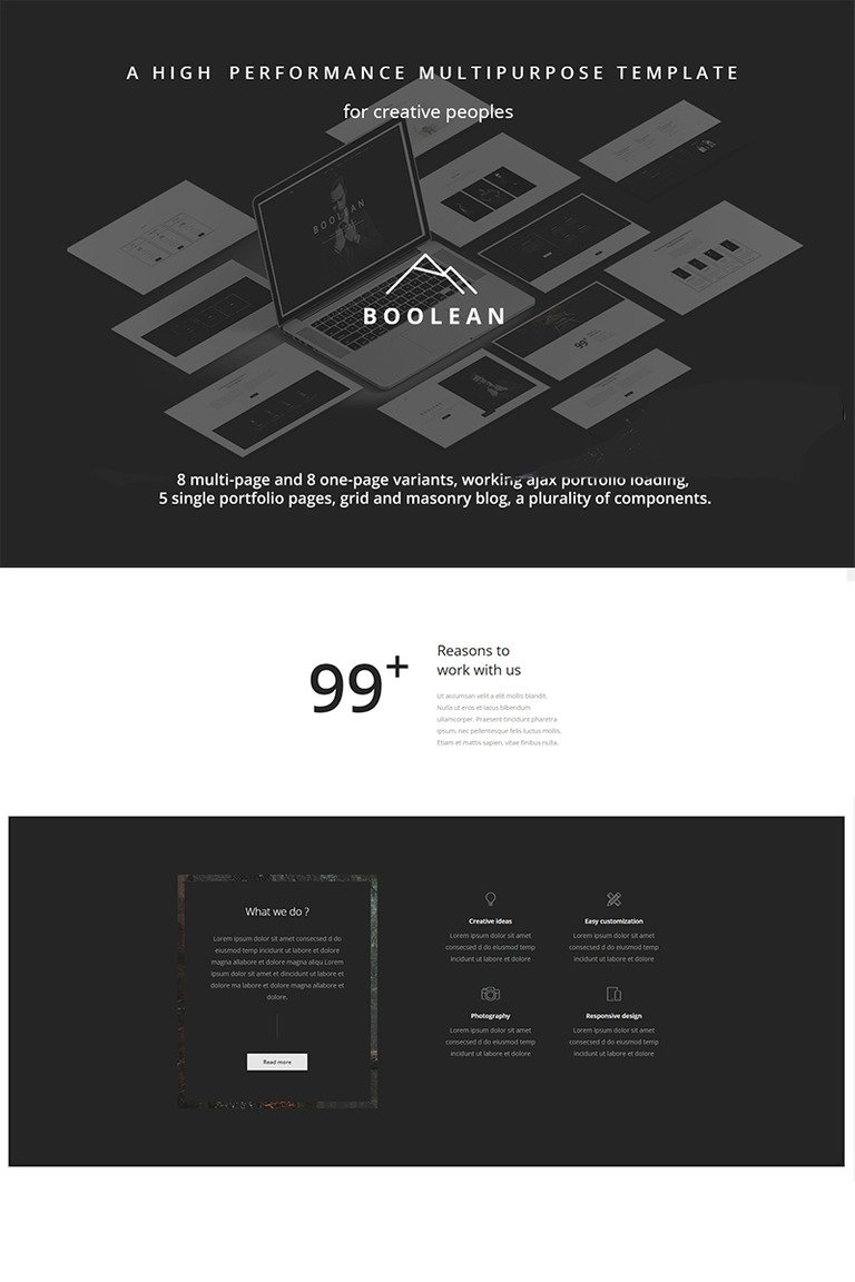 Boolean - Creative Multi-Purpose Website Template #67127