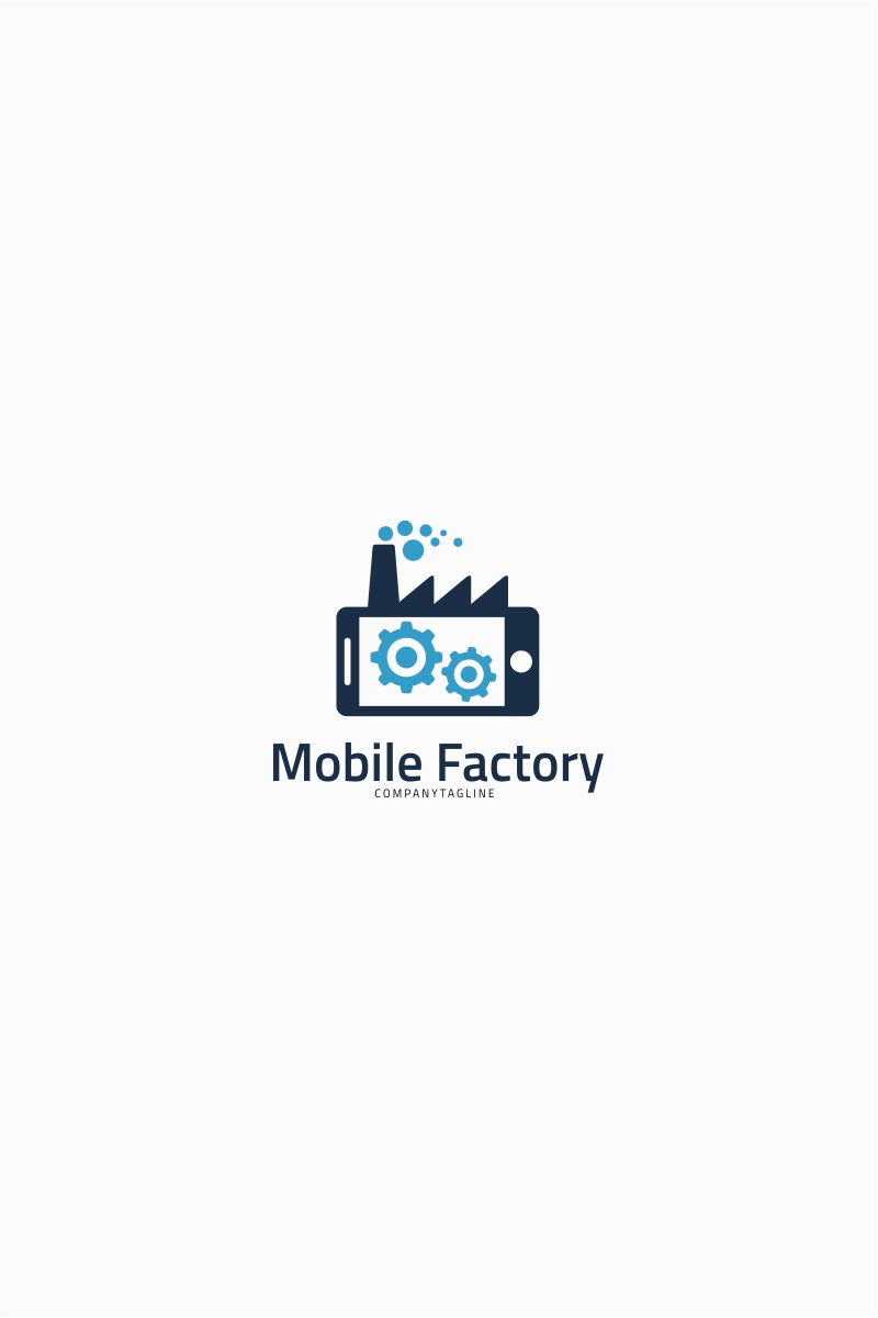 Business logo template 64709 mobile factory logo template wajeb Image collections