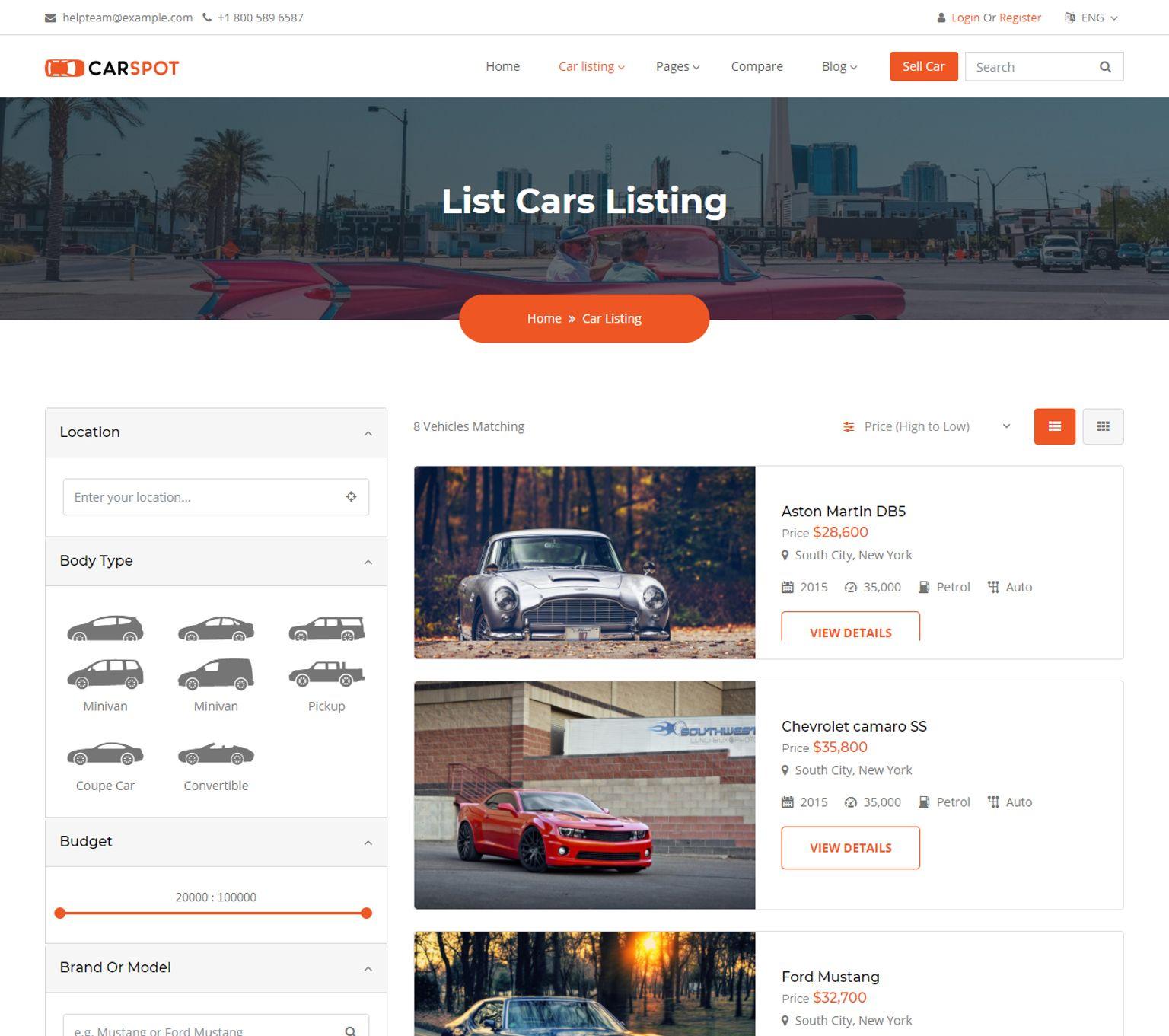 Plantilla Web #67386 para Sitio de Concesionarios de coches
