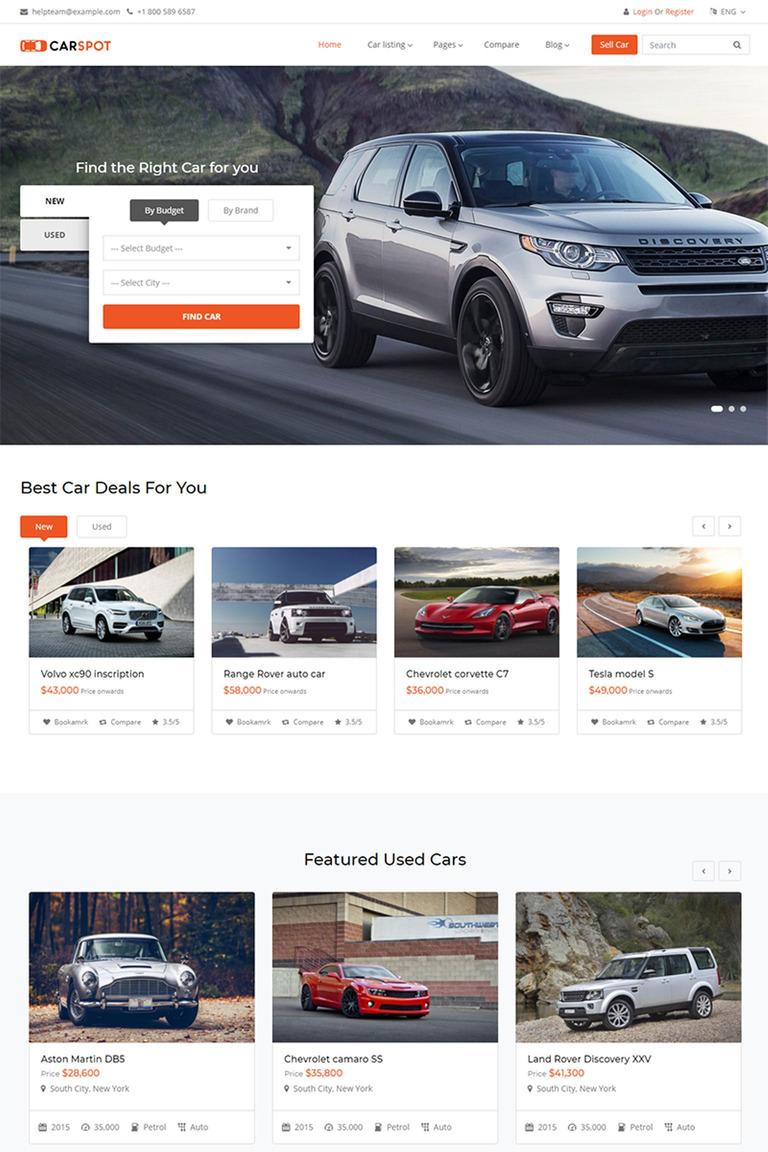 Carspot Automotive Car Dealer Website Template 67386