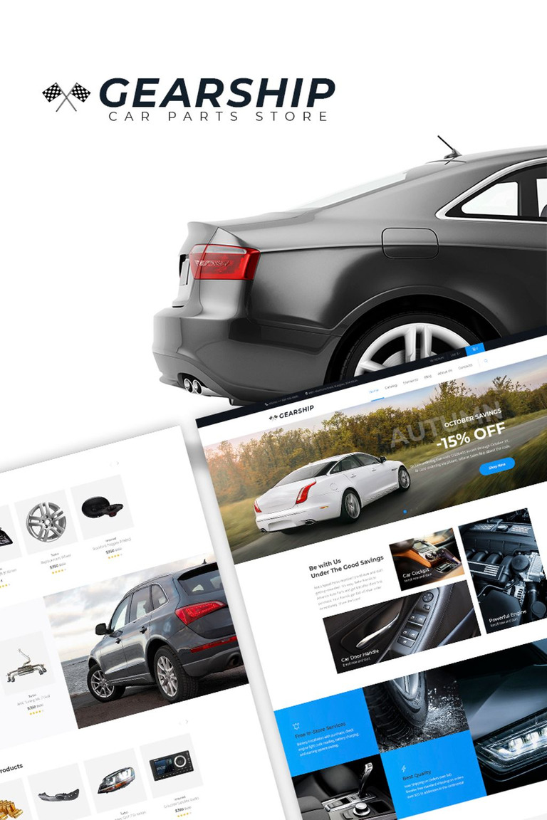 GearShip - Car Parts Store Elementor WooCommerce Theme #67168