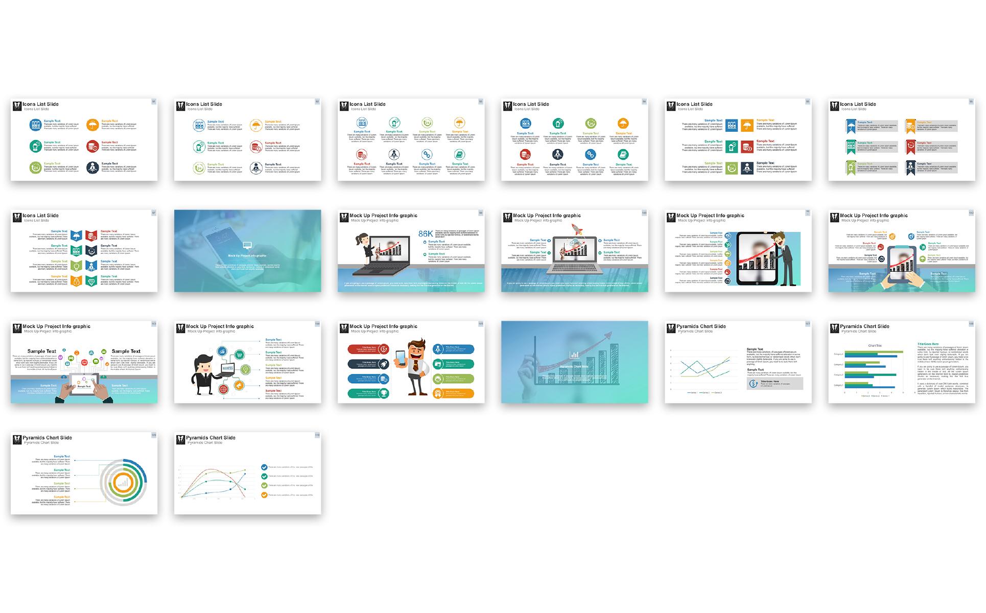 Business presentation powerpoint template 67451 zoom in toneelgroepblik Images